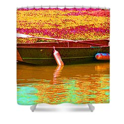 The Boat Shower Curtain by Barbara McDevitt
