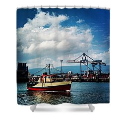 The Boat, Belfast, N.ireland Shower Curtain