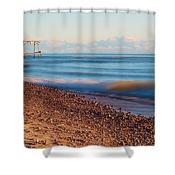 The Boat Hoist Shower Curtain