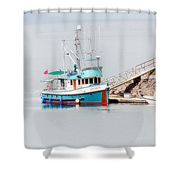 Shower Curtain featuring the photograph The Boat by Jim Thompson