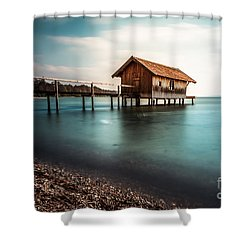 The Boats House II Shower Curtain