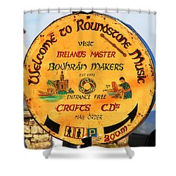 The Bodhran Makers Shower Curtain by Charlie and Norma Brock