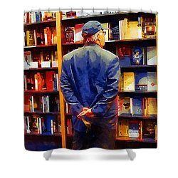 The Book Browser Shower Curtain by RC deWinter