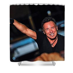 The Boss Shower Curtain by Rafa Rivas