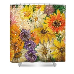 The Bouquet Shower Curtain by Sorin Apostolescu