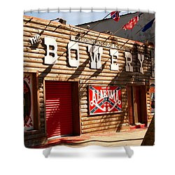 The Bowery Myrtle Beach Shower Curtain