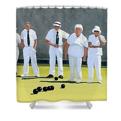 The Bowling Party Shower Curtain
