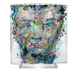 The Boxer Shower Curtain by Fabrizio Cassetta