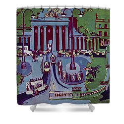 The Brandenburg Gate Berlin Shower Curtain by Ernst Ludwig Kirchner