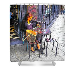 The Brasserie In Paris Shower Curtain