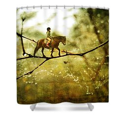 The Brave Rider Shower Curtain
