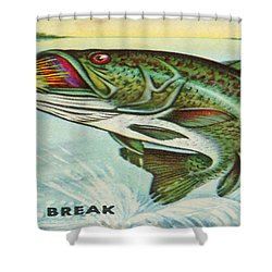 Shower Curtain featuring the digital art The Break by Cathy Anderson