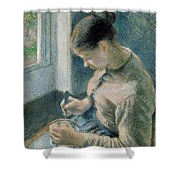 The Breakfast Shower Curtain by Camille Pissarro