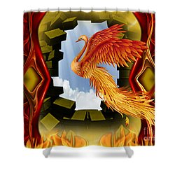 The Breakthrough - Surreal Art By Giada Rossi  Shower Curtain