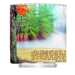 The Breath Of Life Shower Curtain