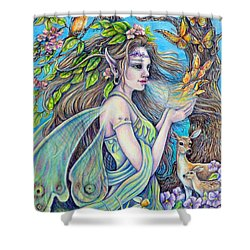 The Breath Of Spring Shower Curtain
