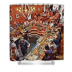 The Brick Store Pub Shower Curtain by Paul Mashburn