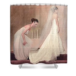 The Bride And Her Maid Of Honor Shower Curtain by Angela A Stanton