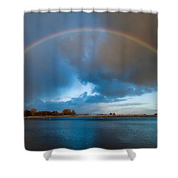 The Bridge Across Forever Shower Curtain
