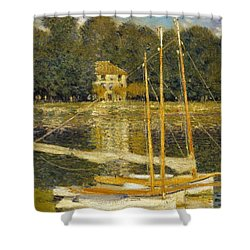 The Bridge At Argenteuil Shower Curtain by Claude Monet