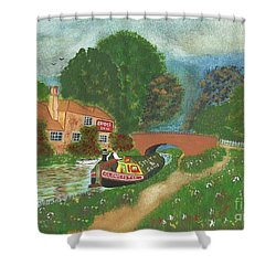 The Bridge Inn Shower Curtain