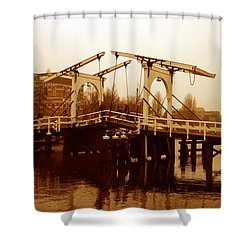 The Bridge Shower Curtain by Menachem Ganon