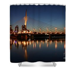 The Bridge Over Calm Waters Shower Curtain by Teresa Zieba
