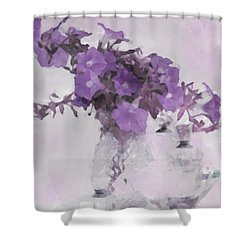 The Broken Branch - Digital Watercolor Shower Curtain