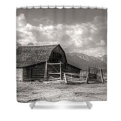 The Broken Fence Shower Curtain by Kathleen Struckle