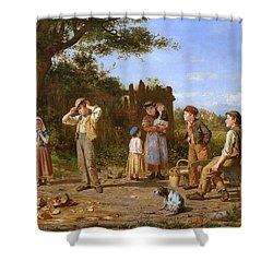 The Broken Jar Shower Curtain by J O Banks