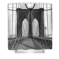 The Brooklyn Bridge Shower Curtain by Underwood Archives