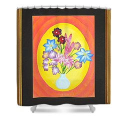 Shower Curtain featuring the painting The Bud Vase by Ron Davidson