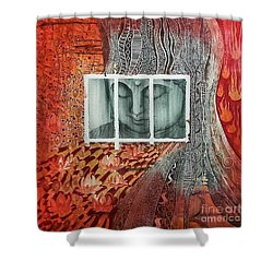 The Buddhist Color Shower Curtain