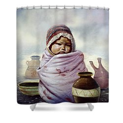 The Bundle Shower Curtain by Gregory Perillo