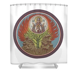 Shower Curtain featuring the painting The Burning Bush 249 by William Hart McNichols