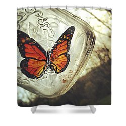The Butterfly Shower Curtain by Carrie Ann Grippo-Pike