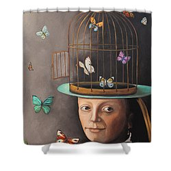 The Butterfly Keeper Edit 2 Shower Curtain by Leah Saulnier The Painting Maniac