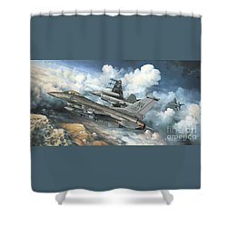 The Buzzard Boys From Aviano Shower Curtain by Randy Green