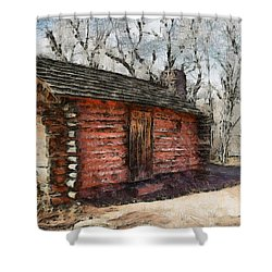 The Cabin Shower Curtain by Ernie Echols