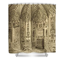 The Cabinet, Engraved By T. Morris Shower Curtain by English School
