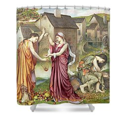 The Cadence Of Autumn Shower Curtain by Evelyn De Morgan