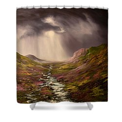 The Cairngorms In Scotland Shower Curtain by Jean Walker