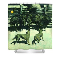 The Call For Help Shower Curtain by Fredrick Remington