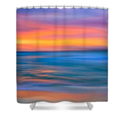 The Call Of Distant Seas Shower Curtain by Mark E Tisdale