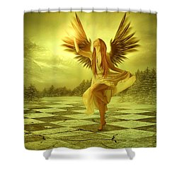 Shower Curtain featuring the photograph The Calling by Ester  Rogers