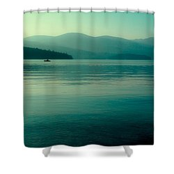 The Calmness Of Priest Lake Shower Curtain by David Patterson