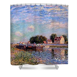 The Canal At Saint-mammes Shower Curtain