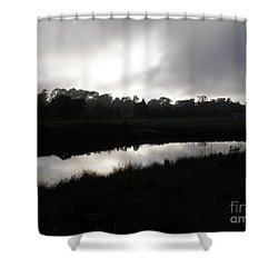 Shower Curtain featuring the photograph The Canal by Bev Conover