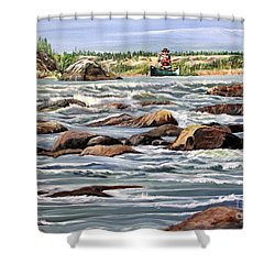 The Canoeist Shower Curtain