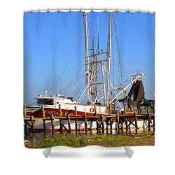 Shower Curtain featuring the photograph The Captain Hw by Gordon Elwell